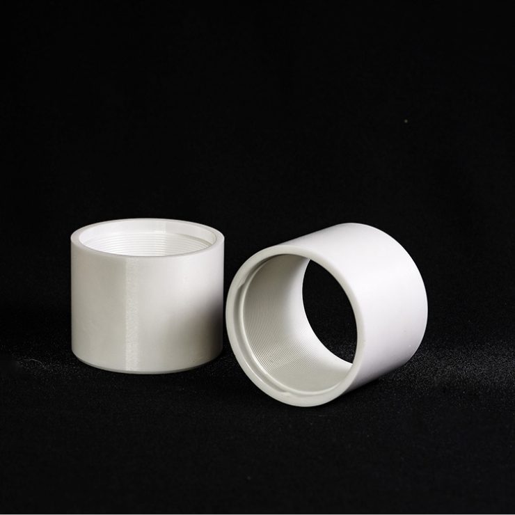Threaded zirconium oxide ceramic tube