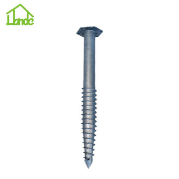 Ground Screw Piles with Hex Flange
