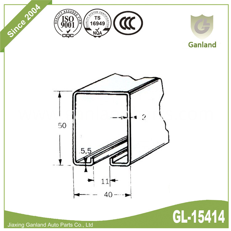 curtain side truck track gl-15414