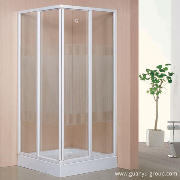 Square Non-Clear Tempered Glass Shower Room