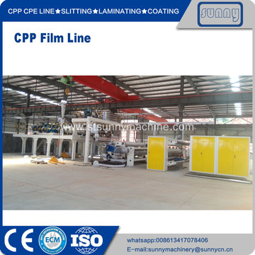 Leading for China CPP Plastic Casting Film Extrusion Machine, CPP Cast Film Line Exporters CPP Line SUNNY MACHINERY export to Poland Manufacturer