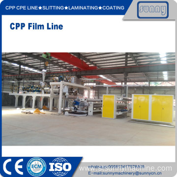 Customized for China CPP Plastic Casting Film Extrusion Machine, CPP Cast Film Line Exporters SUNNY MACHINERY CPP Film Line export to Italy Manufacturer