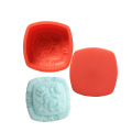 flower shaped silicone soap molds