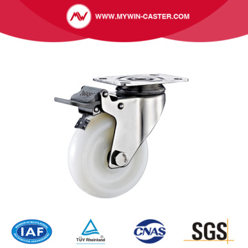 Braked Plate Swivel PA Stainless Steel Caster