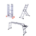 Multi-function folding ladder thickened aluminum profiles