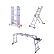 Good Quality for China Aluminum Multifunction Ladder,Multipurpose Ladder With Hinges Supplier Aluminium Alloy Multi-purpose Step Ladder export to Marshall Islands Factories