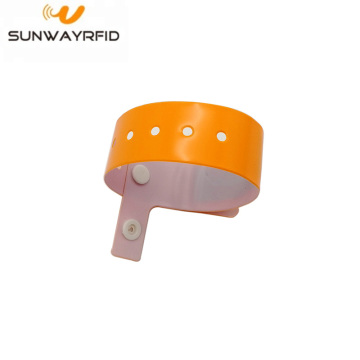 PVC L Shape RFID Disposable Wristbands NFC 13.56mhz Bracelet