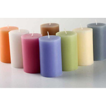 High quality colorful fragrant pillar candle from