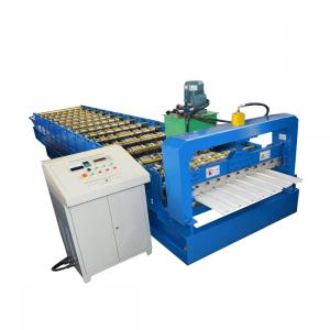 Trapezoidal Colored Metal Wall Panel Roll Forming Machine
