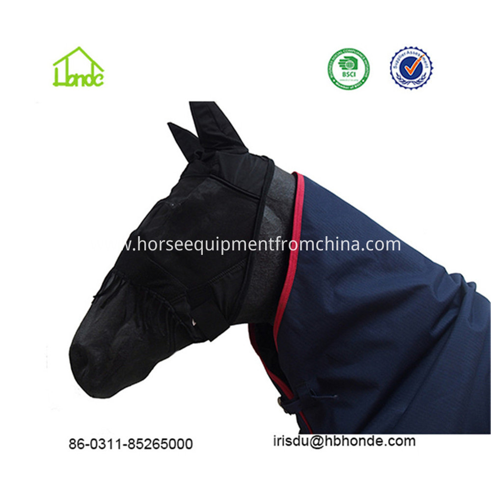 woven horse fly mask