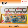 excavator 6BG1TC engine gasket bearing piston ring liner