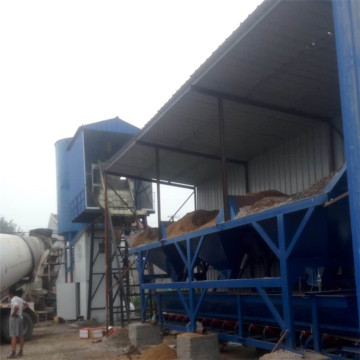 Fixed type electrical ready concrete batching plants