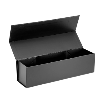 Luxury cardboard single magnetic folding wine box