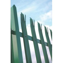 designed steel palisade fence with profile W/D section