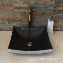 Hot sale Factory for Natural Stone Sink G684 fuding black granite sink export to Poland Factories
