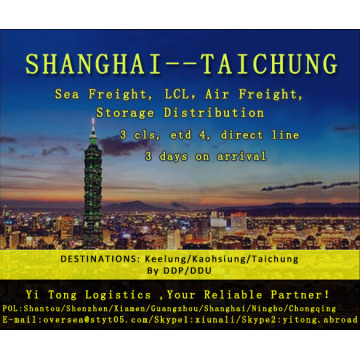 Shanghai Sea Freight to Taichung