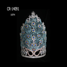 "10"" Wholesale Beauty Rhinestone Peacock Crowns"