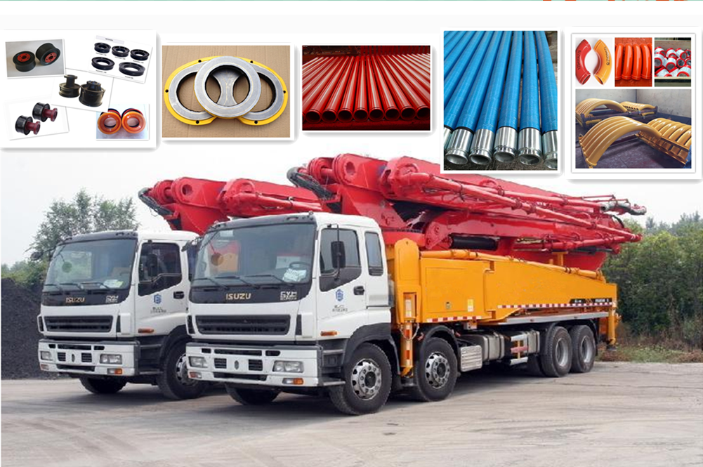 concrete pump spare parts used on mobile pump