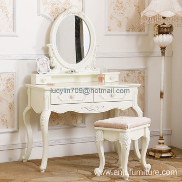 Bedroom North European white dresser mini type mini economy make-up table multifunction assembly simple dressing table