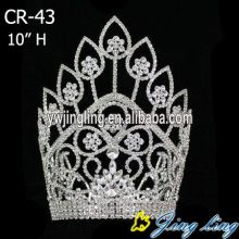 Jingling large Rhinestone Tall Pageant Crown