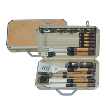 18pcs BBQ set with carry case