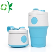 Silicone Drink Folding Portable Water Cup with Cover