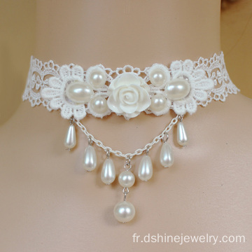 Lace personnalisé collier mariage colliers Daisy femelle Chokers