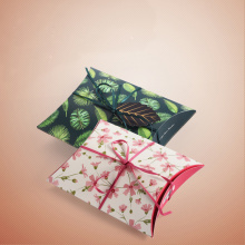 Pillow-shaped Candy Packaging Box with Ribbon