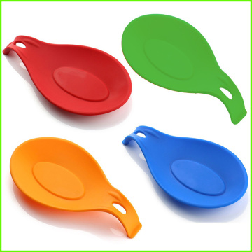 Soft Soup Spoon Rest Kitchen Silicone Spoon Holder