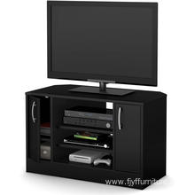 Wooden Corner TV Stand Furniture Living Room