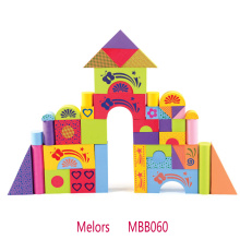 Kids educational toy colorful printing foam building blocks
