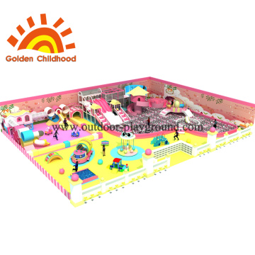 Pink Indoor Playground Equipment For Children
