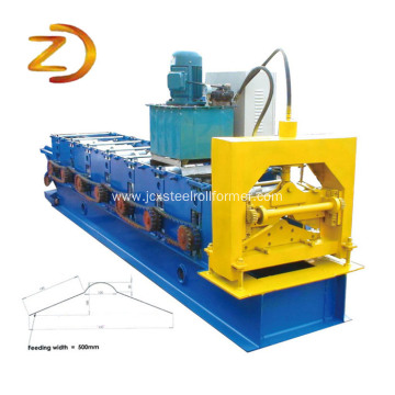 Metal Ridge Cap Tile Cold Roll Forming Machine
