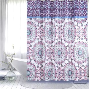Trending Products for Peva Shower Curtain Shower Curtain PEVA Purple Flower supply to Philippines Importers