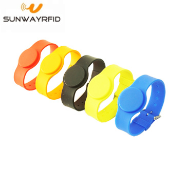ISO14443A 13.56mhz RFID Silicone Wristband Bracelet