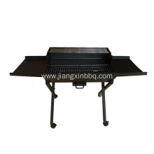 Trolley Charcoal Grill Outdoor with Side Table