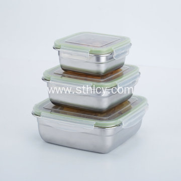 Air Tight Leakproof Stainless Steel Food Container