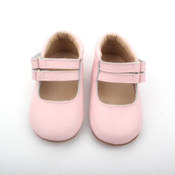 Double Strap Pink Baby Dress Shoes