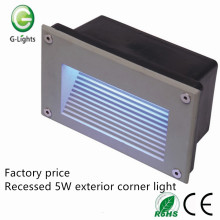 Step lighting recessed waterproof exterior corner light