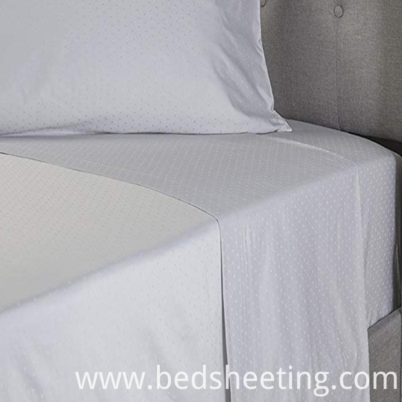 Organic Cotton Jacquard Bed Sheet