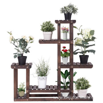Flower Rack Plant Stand Multi Wood Shelves Display Shelf Indoor Outdoor Yard Garden Balcony Multifunctional Storage Rack