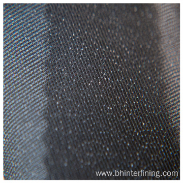 Elastic plain weaving woven fusible interlining fabric