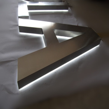 Stainless Steel LED Illumimated Reverse Channel Letters