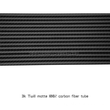 Ubukhulu be-1mm CFRP tube 3K real carbon fiber