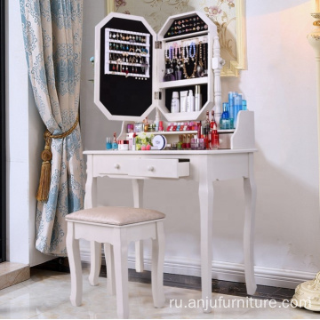 Factory Mirror Furniture Wooden Mirrored Dressing Table