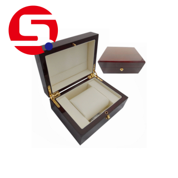 Mens wooden watch box engraved