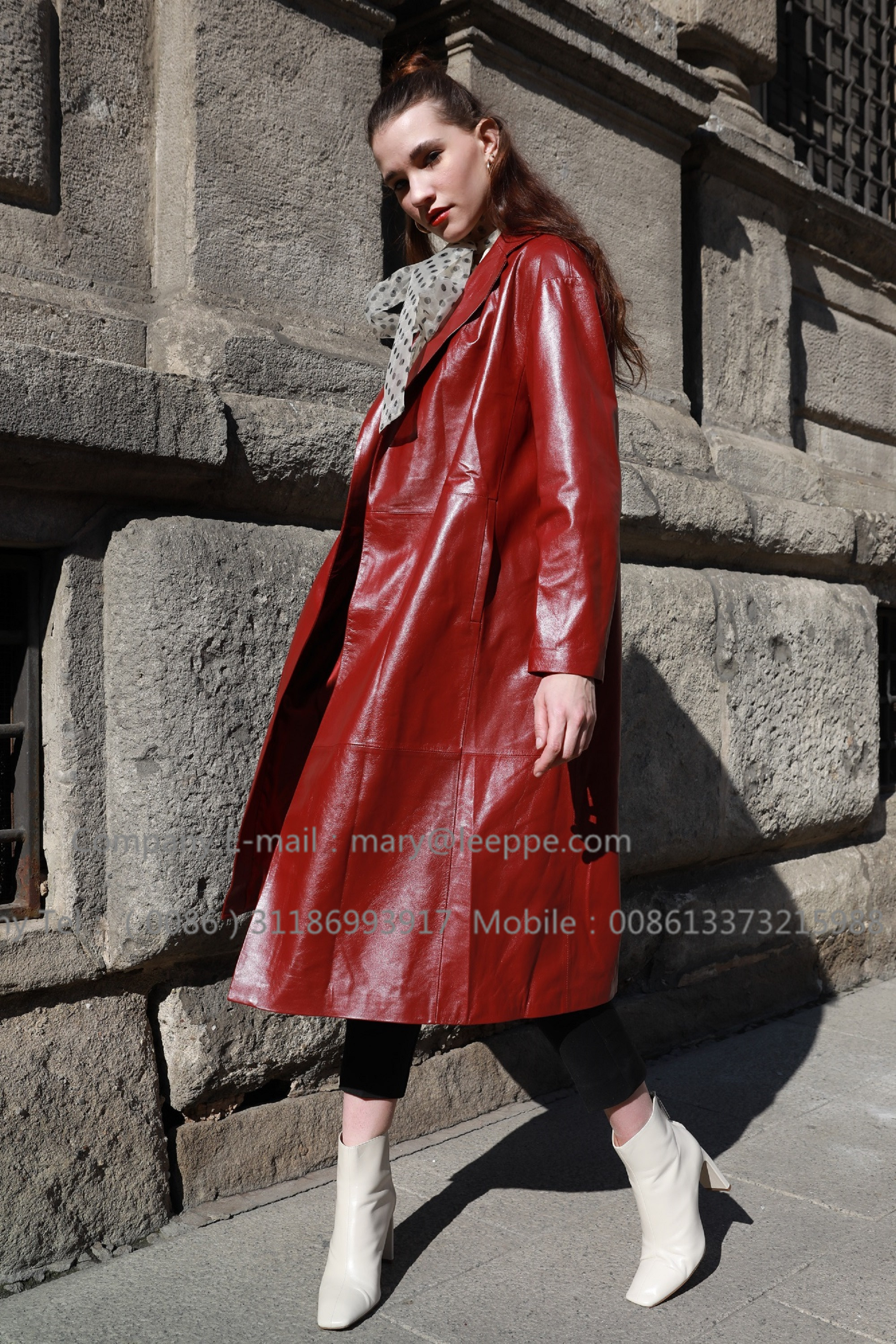 Red Leather Coat (1)