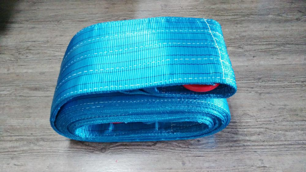 Heavy Duty Blue 8ton Capacity Double Layers Sling with Lifting Hook