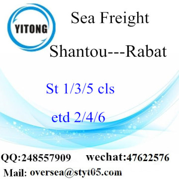 Shantou Port LCL Consolidation To Rabat