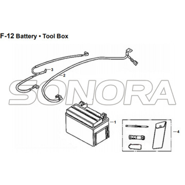 F-12 Battery Tool Box for XS175T SYMPHONY ST 200i Spare Part Top Quality